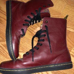 Dr. Martens Stratford Burgundy Boots